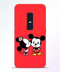 Red Cute Mouse Vivo V17 Pro Mobile Cover
