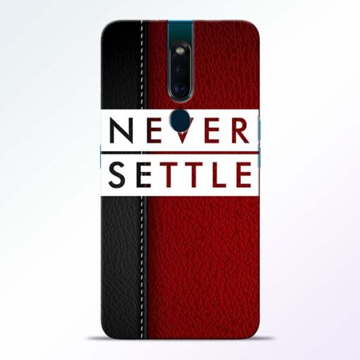 Red Never Settle Oppo F11 Pro Mobile Cover