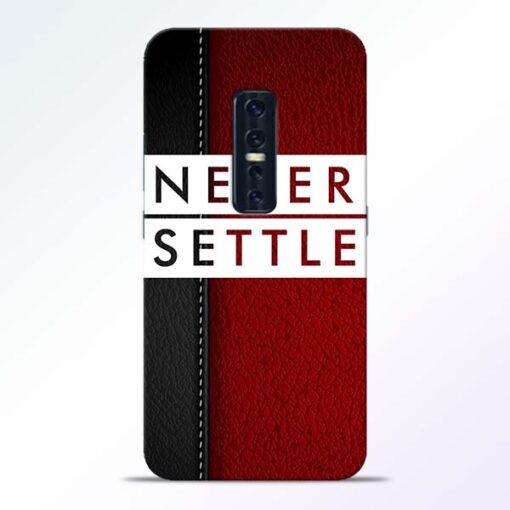 Red Never Settle Vivo V17 Pro Mobile Cover