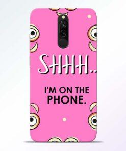 Shhh Phone Redmi 8 Mobile Cover