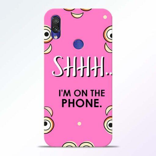 Shhh Phone Redmi Note 7 Pro Mobile Cover
