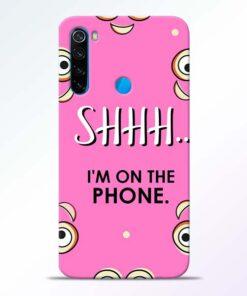 Shhh Phone Redmi Note 8 Mobile Cover