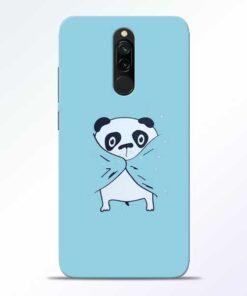 Shy Panda Redmi 8 Mobile Cover