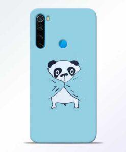 Shy Panda Redmi Note 8 Mobile Cover