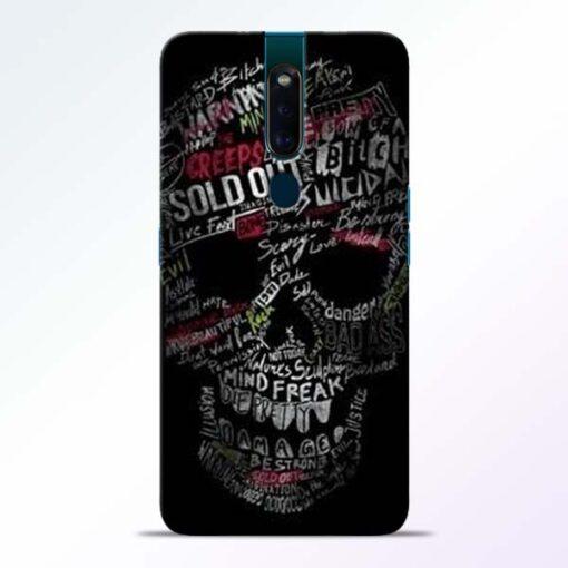 Skull Face Oppo F11 Pro Mobile Cover