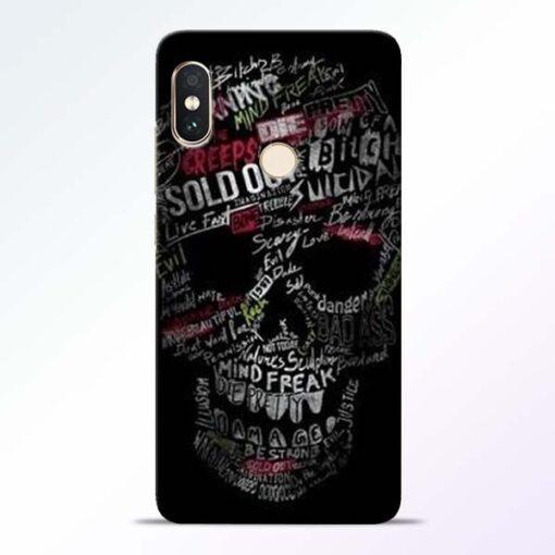 Skull Face Redmi Note 5 Pro Mobile Cover