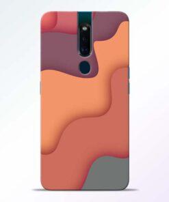 Spill Color Art Oppo F11 Pro Mobile Cover