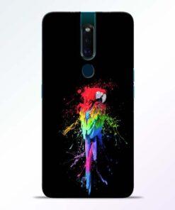 Splatter Parrot Oppo F11 Pro Mobile Cover