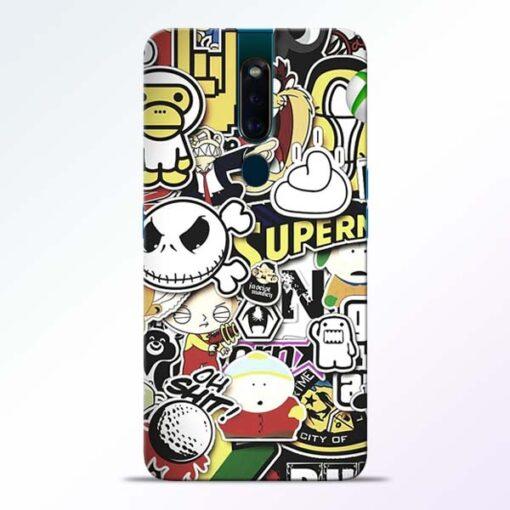 Sticker Bomb Oppo F11 Pro Mobile Cover