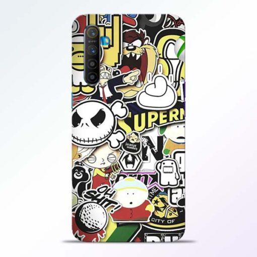 Sticker Bomb Realme XT Mobile Cover