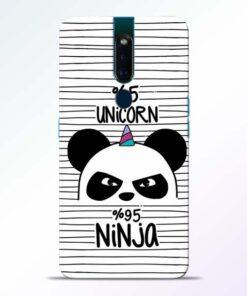 Unicorn Panda Oppo F11 Pro Mobile Cover