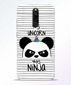 Unicorn Panda Redmi 8 Mobile Cover