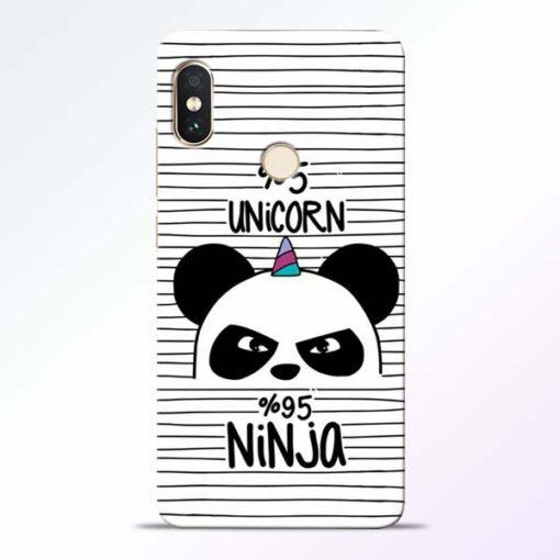 Unicorn Panda Redmi Note 5 Pro Mobile Cover
