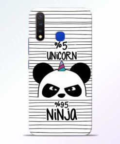 Unicorn Panda Vivo U20 Mobile Cover