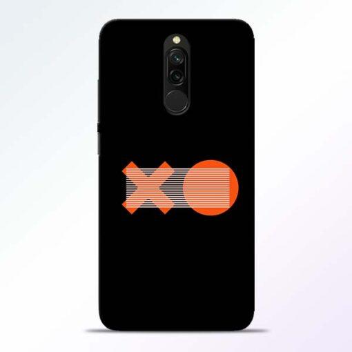 XO Pattern Redmi 8 Mobile Cover
