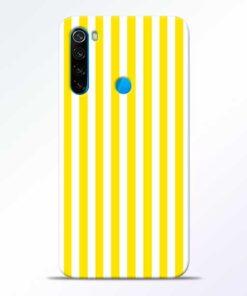 Yellow Striped Redmi Note 8 Mobile Cover