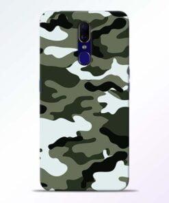 Army Camo Oppo F11 Mobile Cover