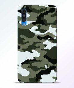 Army Camo Samsung A50 Mobile Cover - CoversGap