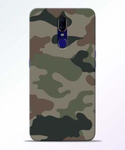 Army Camouflage Oppo F11 Mobile Cover