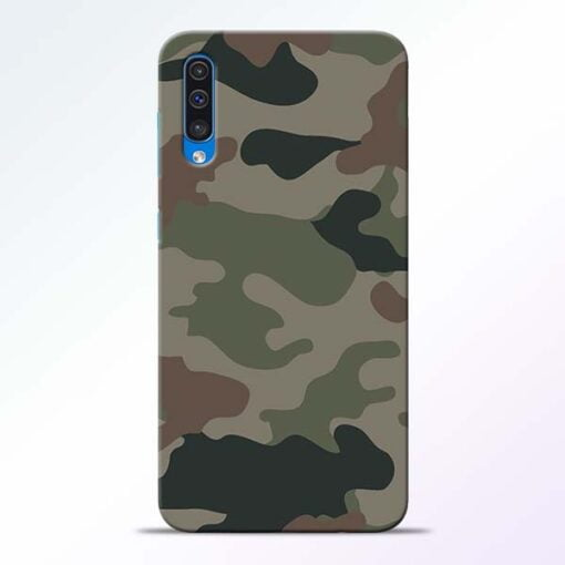 Army Camouflage Samsung A50 Mobile Cover - CoversGap