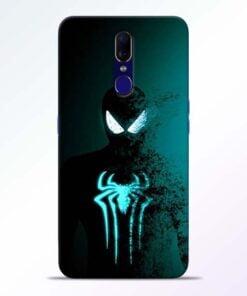 Black Spiderman Oppo F11 Mobile Cover