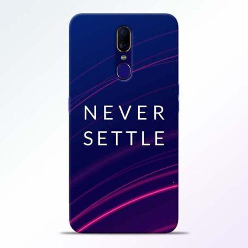 Blue Never Settle Oppo F11 Mobile Cover