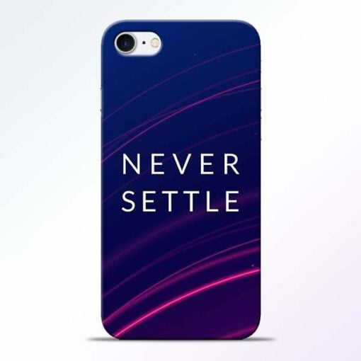 Buy Blue Never Settle iPhone 7 Mobile Cover at Best Price