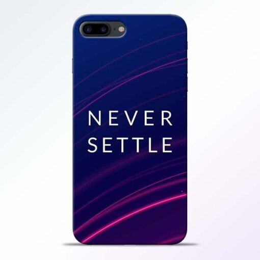 Buy Blue Never Settle iPhone 8 Plus Mobile Cover at Best Price