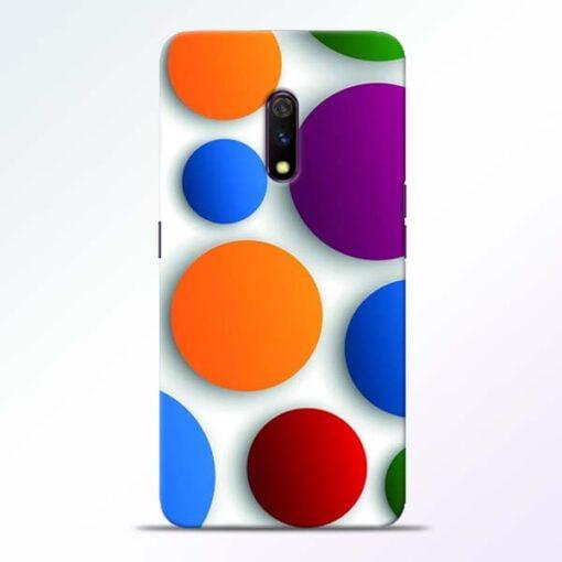 Bubble Pattern Realme X Mobile Cover