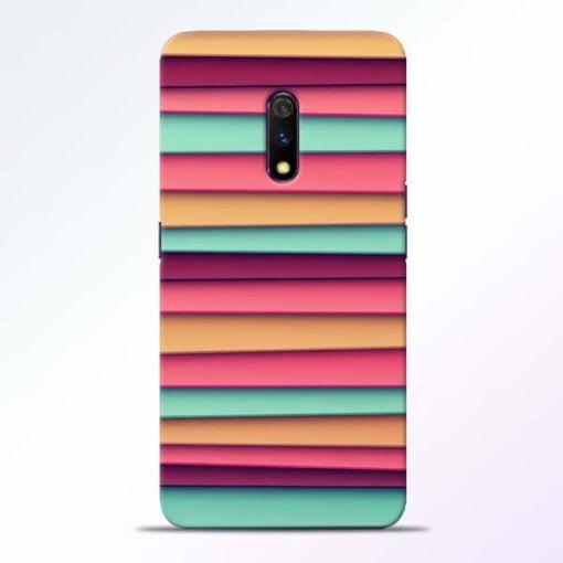 Color Stripes Realme X Mobile Cover