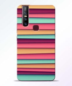 Color Stripes Vivo V15 Mobile Cover
