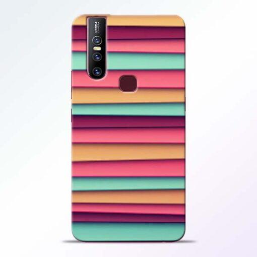 Color Stripes Vivo V15 Mobile Cover