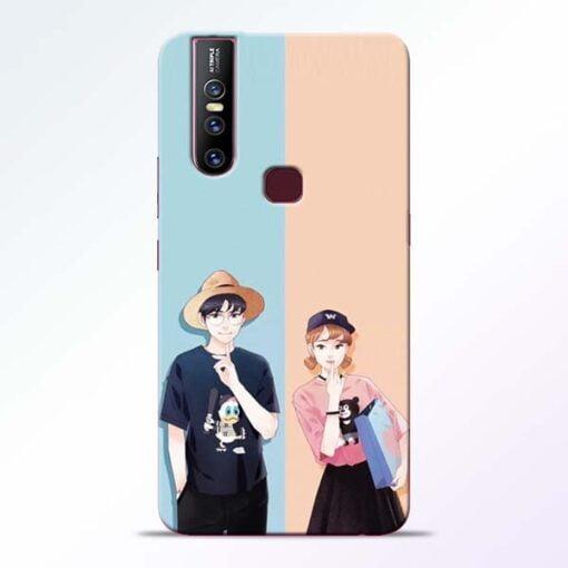 Cute Couple Vivo V15 Mobile Cover