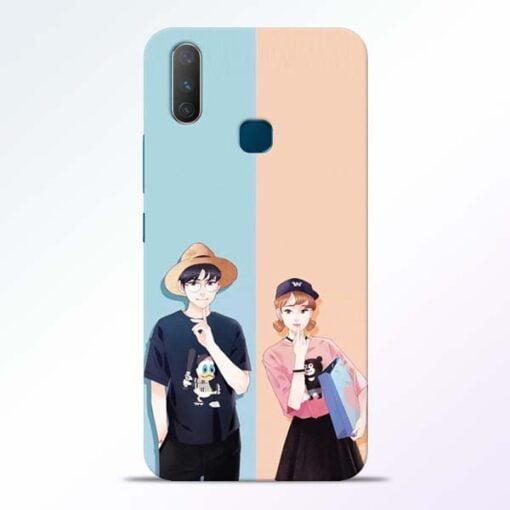 Cute Couple Vivo Y17 Mobile Cover