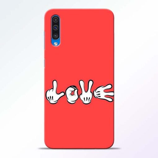Love Symbol Samsung A50 Mobile Cover - CoversGap