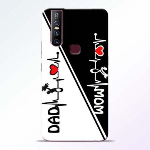 Mom Dad Vivo V15 Mobile Cover