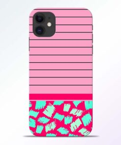 Pink Stripes iPhone 11 Mobile Cover