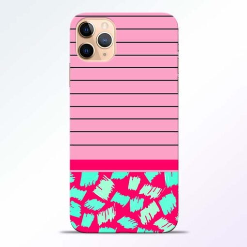 Pink Stripes iPhone 11 Pro Mobile Cover