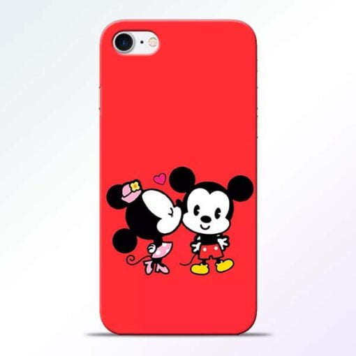 Buy Red Cute Mouse iPhone 8 Mobile Cover at Best Price
