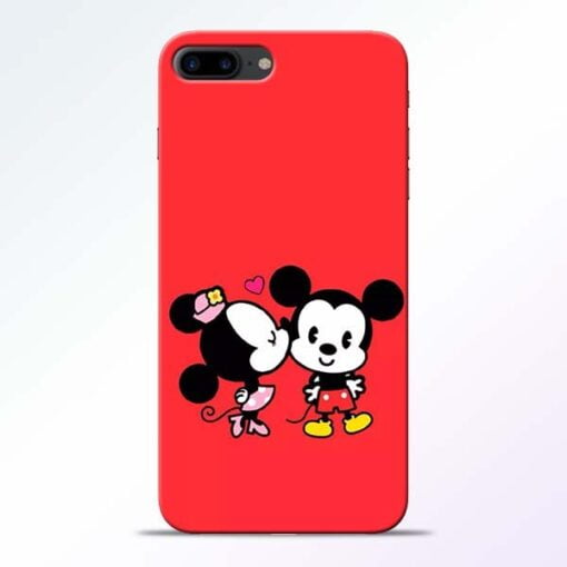 Buy Red Cute Mouse iPhone 8 Plus Mobile Cover at Best Price