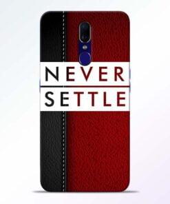 Red Never Settle Oppo F11 Mobile Cover