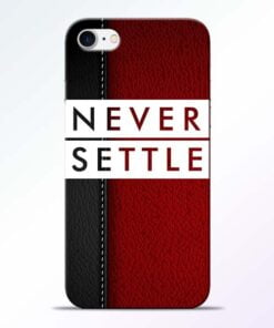 Buy Red Never Settle iPhone 7 Mobile Cover at Best Price
