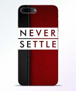Buy Red Never Settle iPhone 8 Plus Mobile Cover at Best Price