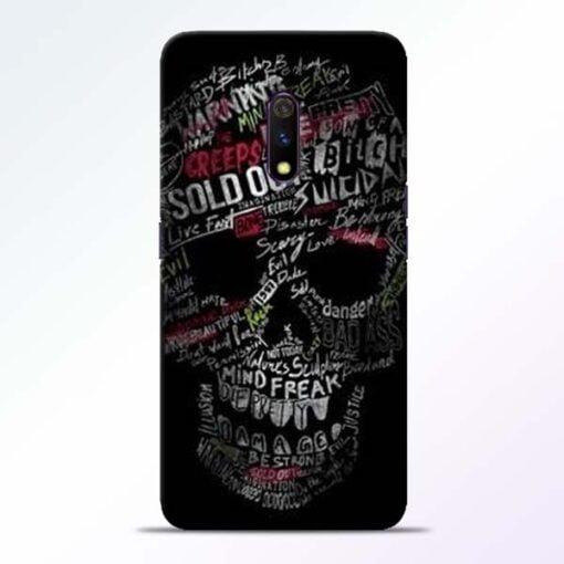 Skull Face Realme X Mobile Cover