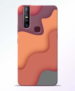 Spill Color Art Vivo V15 Mobile Cover