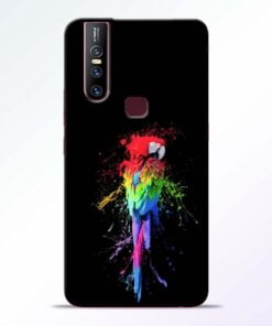 Splatter Parrot Vivo V15 Mobile Cover