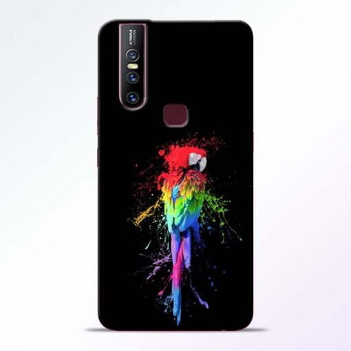 Splatter Parrot Vivo V15 Mobile Cover