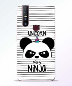 Unicorn Panda Vivo V15 Mobile Cover