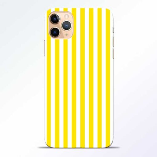 Yellow Striped iPhone 11 Pro Mobile Cover
