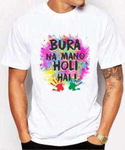 Gulal Color Holi T shirt - White